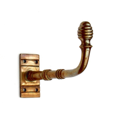 Aged Brass Regency Beehive Hook