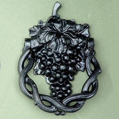 Black Cast Iron Grape Vine Door Knocker