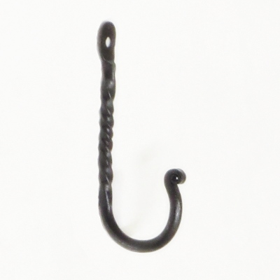 Hand Made Twist Wrought Iron Hook