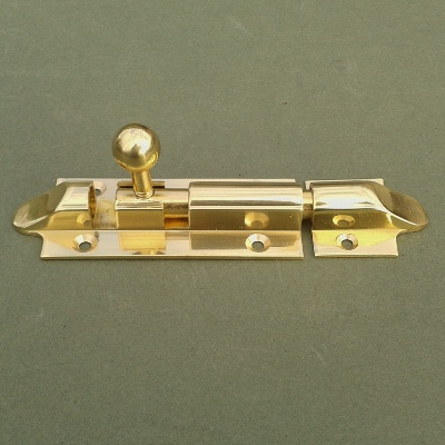 Lacquered Brass Bolt