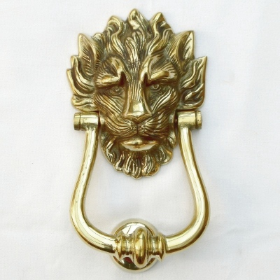 Solid Brass Lion's Head 10 Downing Street Door Knocker