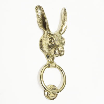 Brass Hare Door Knocker