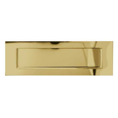 plain lacquered brass letter plate - Letter Box Covers