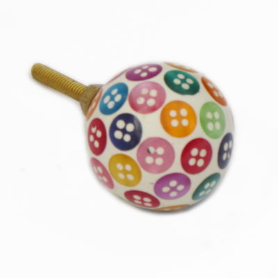Coloured Buttons Cupboard Knob
