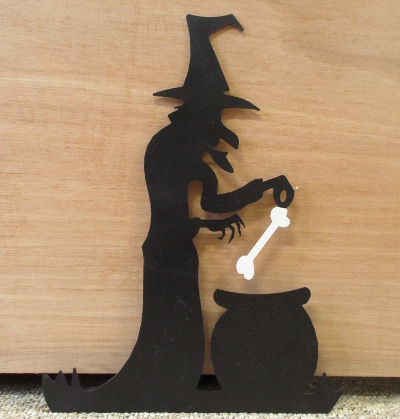 Halloween Hanging Metal Witch