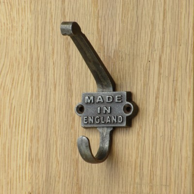Cast Iron Made In England Coat Hooks