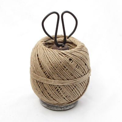 Mill Bobbin Ball Twine Holder with Scissors