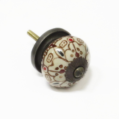 Patterned Ceramic Cupboard or Drawer Knobs