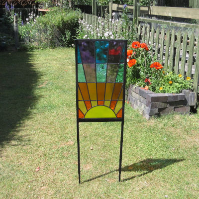 Hand Made Stained Glass Garden Art