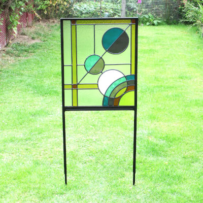 Hand Made Stained Glass Garden Art Planets