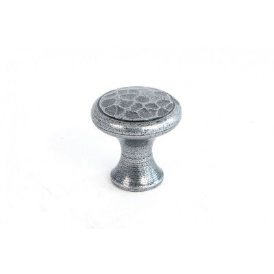 Tiny Cupboard Knob with Pewter Patina