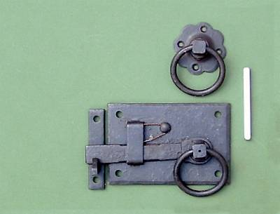 Black Wrought Iron Cottage Gate Latch