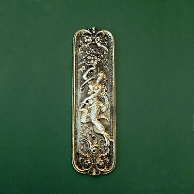 Solid Brass Grecian Lady Finger Plate