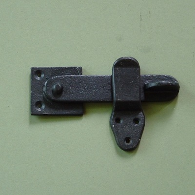 Heavy Simple Black Wrought Iron Latch