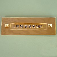 letters brass letter box - Letter Box Covers