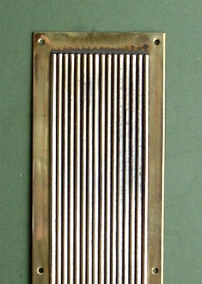 Reeded Pressed Brass Finger Plate