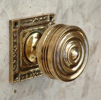 Square Backed Solid Brass Mortise Door Knobs & Door Knobs - Period Door Furniture for Beautiful Homes - Brass ... pezcame.com
