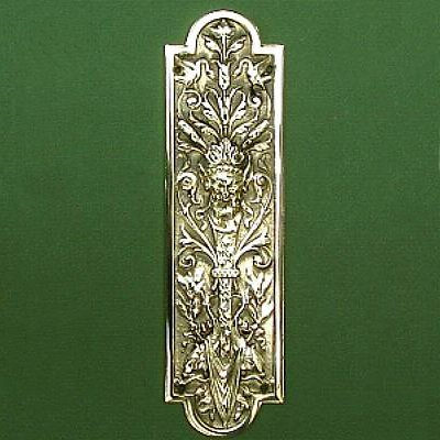 Solid Brass Neptune Finger Plate & Finger Plates - Door Plates and Push Plates for Beautiful Homes ...